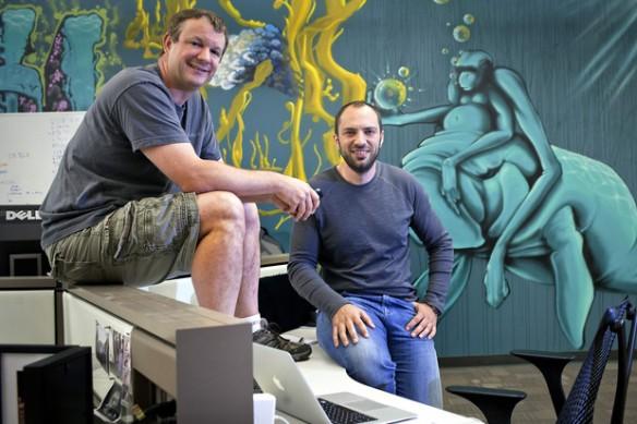 WhatsApp Founders Brian Acton (Left) and Jan Koum: Photo Courtesy Peter DaSilva 9www.bloomberg.com)